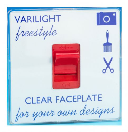 Varilight XIF45C Freestyle Clear 45A DP Cooker Switch Single Plate